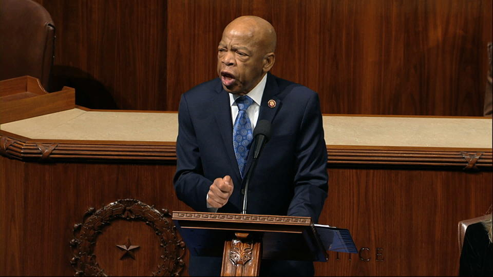 Rep. John Lewis, D-Ga., speaks as the House of Representatives debates the articles of impeachment against President Donald Trump at the Capitol in Washington on Dec. 18, 2019. (Photo: House Television via AP)
