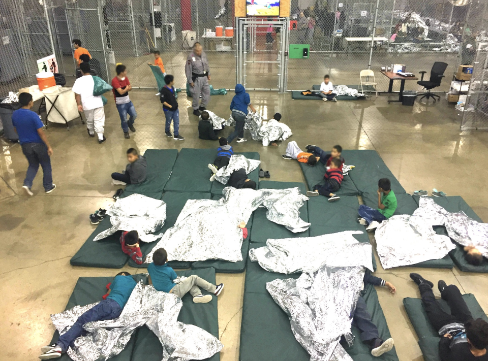 A view of inside U.S. Customs and Border Protection (CBP) detention facility shows children at Rio Grande Valley Centralized Processing Center in Rio Grande City, Texas, U.S., June 17, 2018. (Source: CBP)