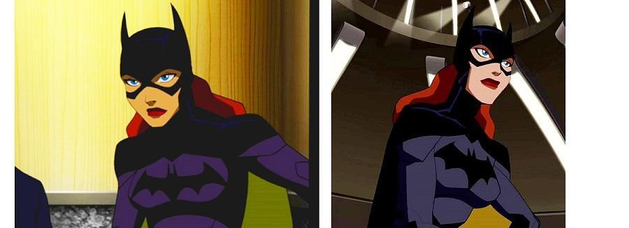 On the animated series Young Justice, Batgirl strikes a more serious tone.