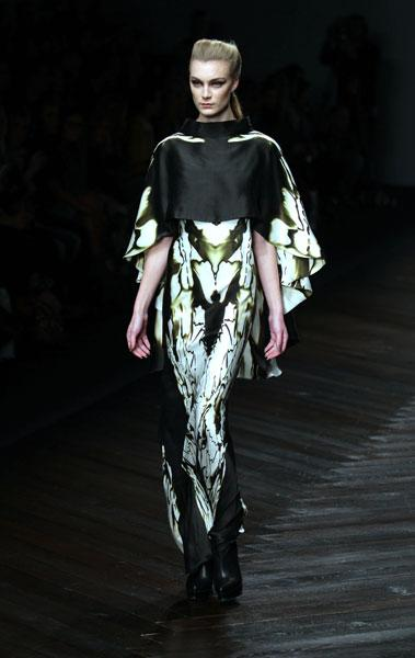 <b>LFW AW13: Maria Grachvogel </b><br><br>Dresses were loose and floaty and looked very wearable.<br><br>© PA