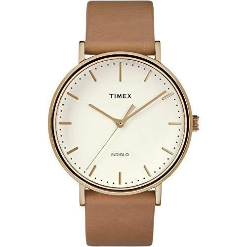 """<p><strong>Timex</strong></p><p>amazon.com</p><p><strong>$67.94</strong></p><p><a href=""""https://www.amazon.com/dp/B079KVC3L6?tag=syn-yahoo-20&ascsubtag=%5Bartid%7C2139.g.36673991%5Bsrc%7Cyahoo-us"""" rel=""""nofollow noopener"""" target=""""_blank"""" data-ylk=""""slk:BUY IT HERE"""" class=""""link rapid-noclick-resp"""">BUY IT HERE</a></p><p>With rose gold markers specifically picked to match the smooth tan leather band, Timex's cream-colored watch is the perfect everyday piece. Not only will it go with just about everything in your wardrobe, but it can definitely stand up to some wear and tear: The mineral glass crystal is scratch-resistant. <br></p>"""