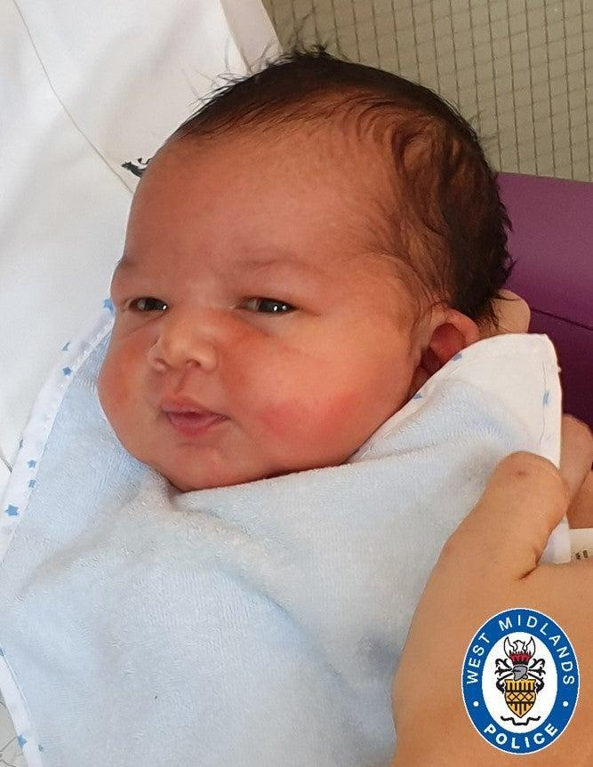 Hospital staff have named the baby GeorgeWest Midlands Police