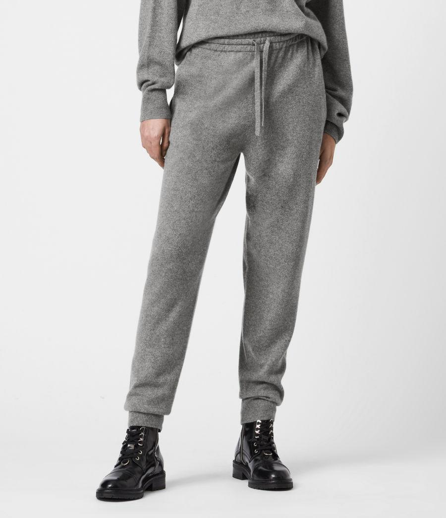 Womens Olly Cashmere Blend Slim Cuffed Joggers (grey_marl) - Image 4