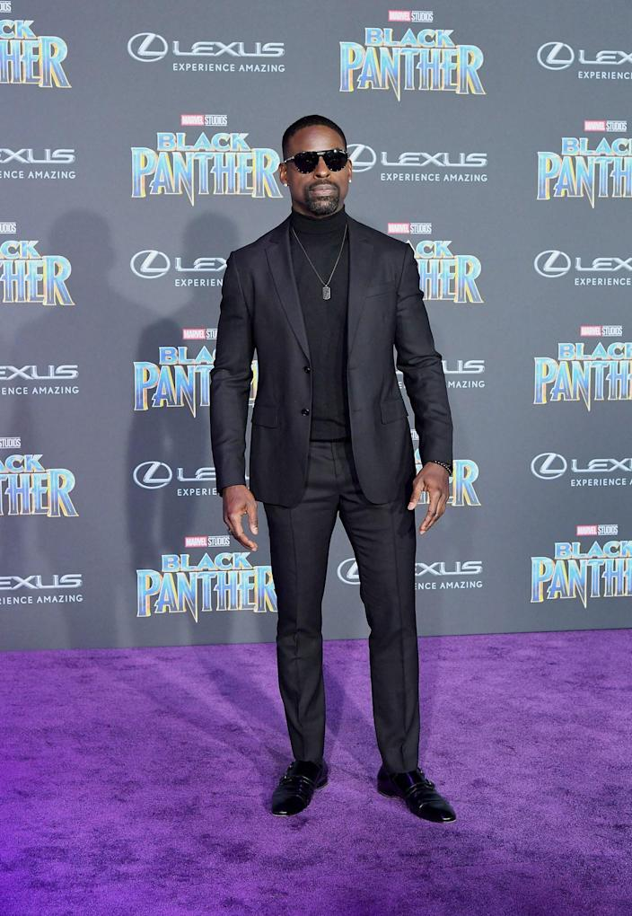 """<h1 class=""""title"""">Sterling K. Brown</h1> <div class=""""caption""""> Wearing a La Perla suit and Musika Frère turtleneck. </div> <cite class=""""credit"""">By Charley Gallay/Getty Images.</cite>"""