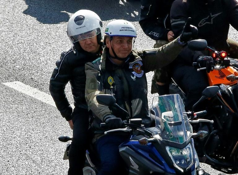 """Thousands of roaring motorcycles led by Brazilian President Jair Bolsonaro took part in the """"Accelerate for Christ"""" rally in Sao Paulo"""