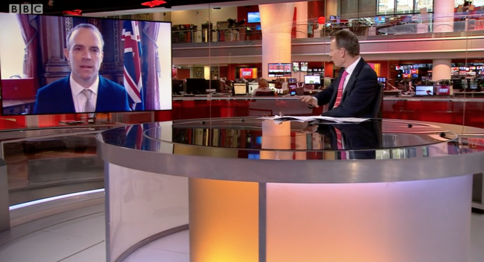 Dominic Raab talks to Andrew Marr about the government's plans to lift lockdown. (BBC)