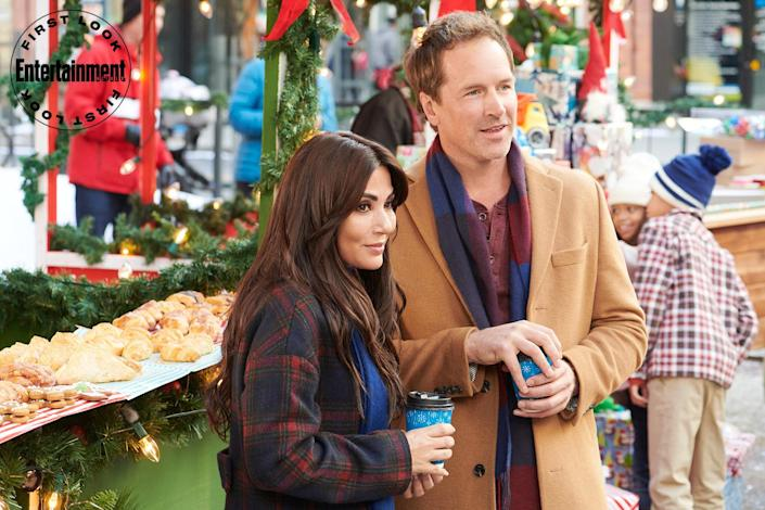 """<p><strong>Premieres: </strong>Nov. 26 at 6 p.m. ET/PT, Hallmark Channel</p> <p><strong>Stars: </strong>Marisol Nichols, Paul Greene<strong> <br></strong></p> <p><strong>Contains: </strong>Toy-company consolidation, ex-business partner drama<strong><br></strong></p> <p><strong>Official description: </strong>""""A small toy company CEO gets a once in a lifetime offer to merge with a mega toy company but will need her estranged ex-business partner's signature to seal the deal. What he helps her rediscover will change both of their lives.""""</p>"""