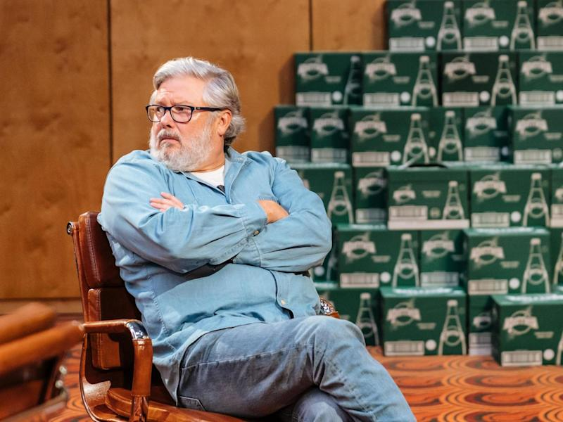 Conleth Hill as Sandy in National Theatre production of Annie Baker's 'The Antipodes': Manuel Harlan