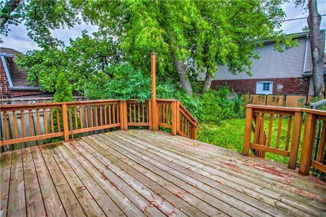 <p><span>357 O'Connor Dr., Toronto, Ont.</span><br> The backyard is fully fenced, and has a deck, perfect for entertaining.<br> (Photo: Zoocasa) </p>