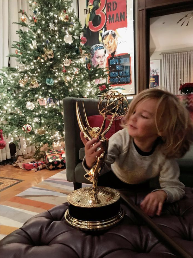"<p>""This lady showed up in the mail today. Otis approves,"" the actress captioned this shot of her son with the Emmy statue she won for Outstanding Short Documentary for <em>Body Team 12</em>. ""When I was a little older than he is now, my mom won an Emmy for excellence in news journalism, and when I played with it, and promptly broke the globe part off by accident, she told me it was okay, but now I just had to win her a replacement. Only took me 30 years. This is for her."" (Photo: <a href=""https://www.instagram.com/p/Bc8mkmUHH-5/?taken-by=oliviawilde"" rel=""nofollow noopener"" target=""_blank"" data-ylk=""slk:Olivia Wilde via Instagram"" class=""link rapid-noclick-resp"">Olivia Wilde via Instagram</a>) </p>"