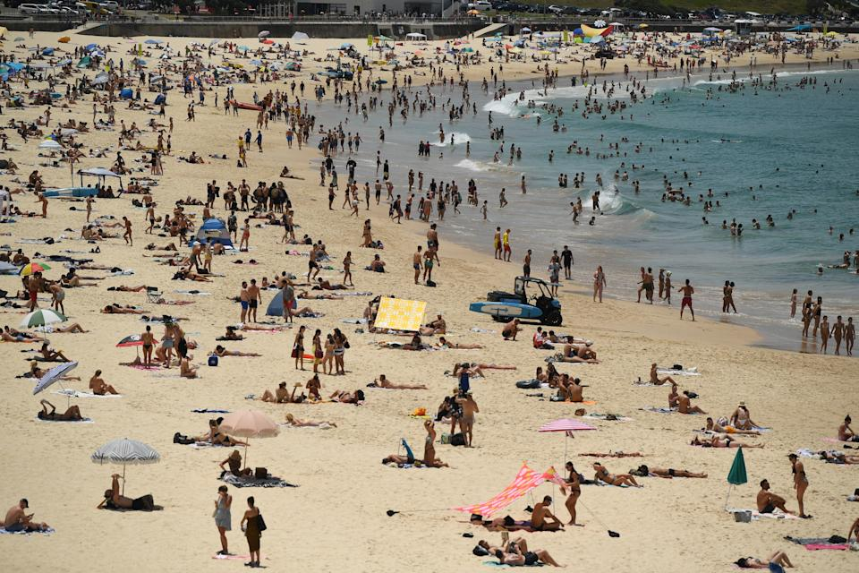 NSW Ambulance has had an increase in calls, due to heat stroke and beach-related injuries. Source: AAP