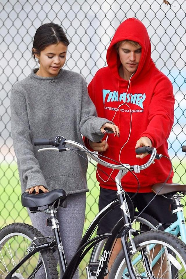 "<p>According to <em>People</em>, Bieber is very much hoping they are on a path to getting back together. ""It wouldn't be surprising if they got back together,"" <a href=""http://people.com/music/justin-bieber-happy-selena-gomez-single-wants-her-back/"" rel=""nofollow noopener"" target=""_blank"" data-ylk=""slk:a source tells the magazine"" class=""link rapid-noclick-resp"">a source tells the magazine</a>. ""It seems their relationship now is very different. Justin is certainly a much better person. He would be a better boyfriend too."" (Photo: Vasquez-Max Lopes/BACKGRID) </p>"