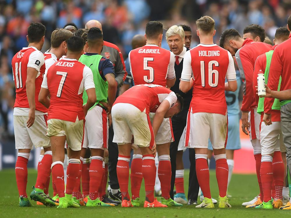 Arsenal's players clambered back on board the good ship Arsene Wenger: Getty