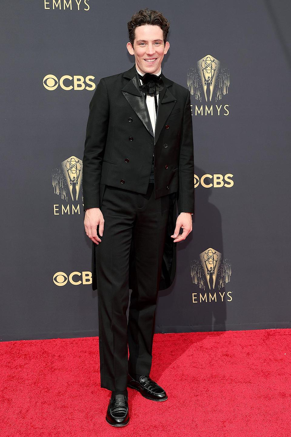 <p>took home the Emmy for outstanding lead actor in a drama series for his portrayal of Prince Charles in <em>The Crown</em>. In his acceptance speech, he shouted out his costar, Emma Corrin, who played opposite him as Lady Diana. </p>