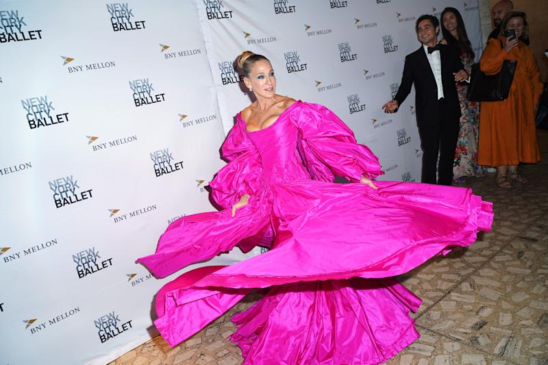 NEW YORK, NEW YORK - SEPTEMBER 26: Sarah Jessica Parker attends the New York City Ballet 2019 Fall Fashion Gala at David H. Koch Theatre at Lincoln Center on September 26, 2019 in New York City. (Photo by Jared Siskin/Patrick McMullan via Getty Images)