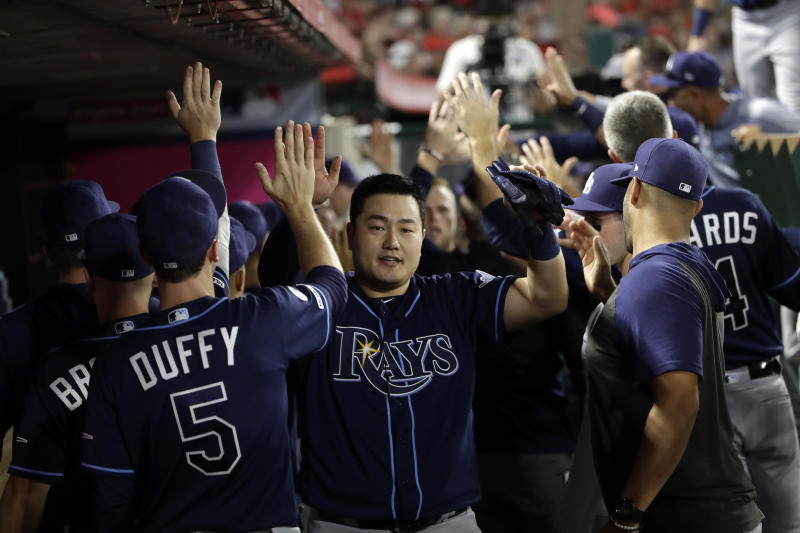 D'Arnaud's 3-run double sends streaking Rays past Angels 3-1