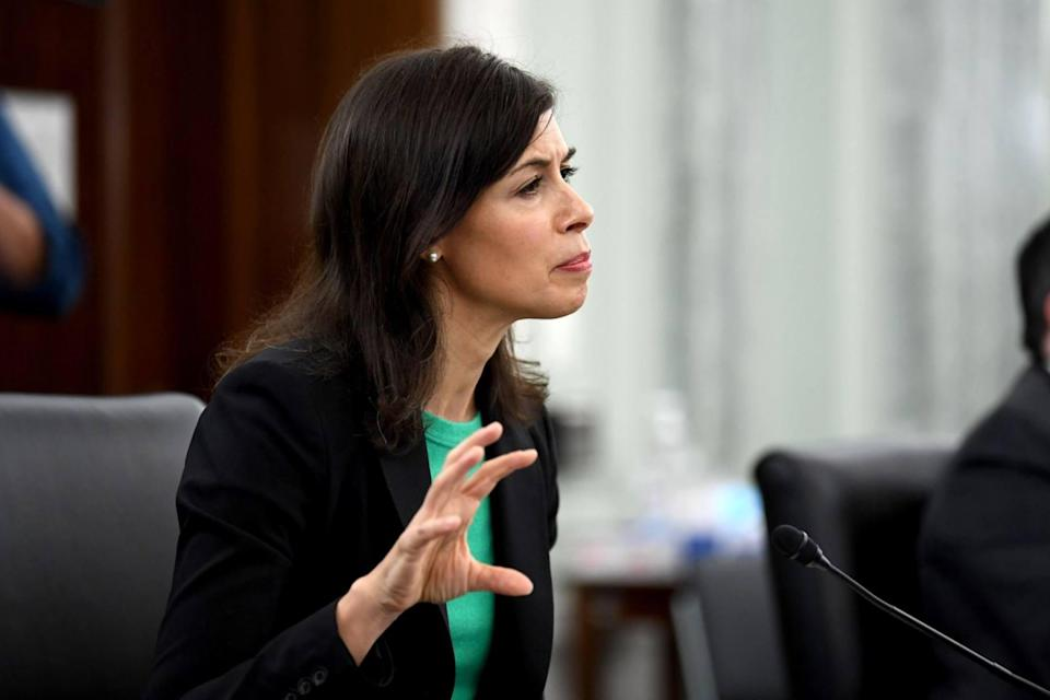 Jessica Rosenworcel, shown at an oversight hearing in Washington in June, leads the Federal Communications Commission. Photo: AFP/Getty Images