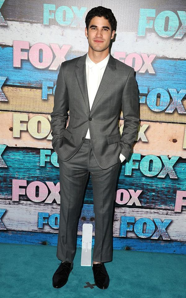 "Darren Criss (""Glee"") arrives at the Fox Summer 2012 All-Star Party on July 23, 2012 at the Soho House in West Hollywood, California."