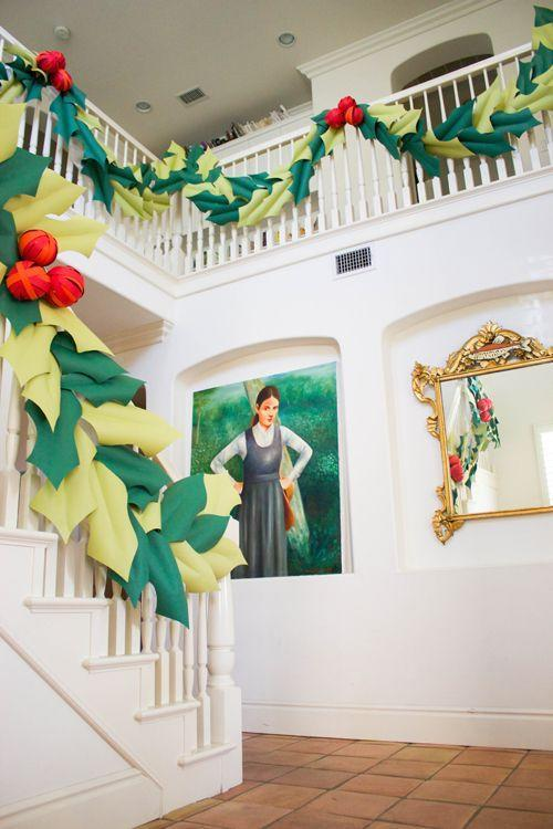 """<p>Feeling really inspired this year? Take on an awesome Christmas DIY project that yields a massive holly garland that's unlike anything your guests will have ever seen before. </p><p><em>Get the tutorial at <a href=""""https://thehousethatlarsbuilt.com/2014/11/oversized-berry-and-holly-garland-tutorial.html/"""" rel=""""nofollow noopener"""" target=""""_blank"""" data-ylk=""""slk:The House That Lars Built"""" class=""""link rapid-noclick-resp"""">The House That Lars Built</a>.</em></p><p><a class=""""link rapid-noclick-resp"""" href=""""https://www.amazon.com/Savage-12yds-Background-Paper-Green/dp/B000ONYUCW/?tag=syn-yahoo-20&ascsubtag=%5Bartid%7C10072.g.34479907%5Bsrc%7Cyahoo-us"""" rel=""""nofollow noopener"""" target=""""_blank"""" data-ylk=""""slk:SHOP PAPER"""">SHOP PAPER</a></p>"""