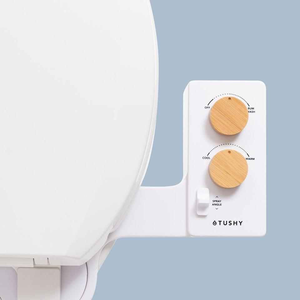"""<p>""""As the saying goes, you don't know what you're missing until it's gone . . . but what about something you've actually missed that you didn't even know because it hadn't arrived? That's how I feel about my <span>Tushy Spa 3.0 Bidet Toilet-Seat Attachment</span> ($119, originally $149), aka my favorite thing in my entire bathroom now.</p> <p>""""Now, I'm not particularly handy, but I'm not not handy either. I'm very good at following instructions, and have just enough tools to get most jobs done around my house. Truly, it couldn't have been easier, as all I did was unscrew the toilet seat, add the Tushy, and reattach the toilet seat. Then, when it came to the water, it was as simple as screwing the hose to my toilet tank. The whole process, including reading the instructions, took less than 10 minutes. Even if you aren't sure a bidet is for you, don't knock it until you've tried it, because I'm personally never going to poo-poo this concept ever again."""" - Morgan Ashley Parker, contributing editor</p> <p>If you want to read more, here is the <a href=""""https://www.popsugar.com/smart-living/tushy-bidet-toilet-seat-attachment-review-48248834"""" class=""""link rapid-noclick-resp"""" rel=""""nofollow noopener"""" target=""""_blank"""" data-ylk=""""slk:Tushy Spa Attachment"""">Tushy Spa Attachment</a> review.</p>"""