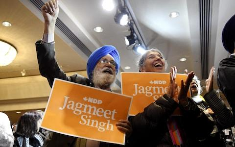 Mr Trudeau's Liberals will likely rely on the New Democrats, led by Jagmeet Singh, to form a new government and pass legislation - Credit: Bloomberg