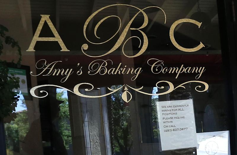 "This Monday, June 3, 2013 photo shows Amy's Baking Company in Scottsdale, Ariz. The restaurant is now hiring staff again. The restaurant temporarily closed after their ""Kitchen Nightmares"" episode aired. The episode of ""Kitchen Nightmares"" drew more than a million viewers on YouTube, and restaurateur Amy Bouzaglo's vitriolic rants became popular fodder on Twitter and Facebook. Bouzaglo announced she is shopping around her own reality TV show. (AP Photo/Ross D. Franklin)"