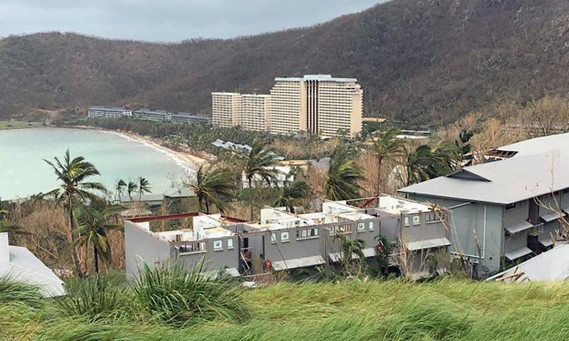Damage on Hamilton Island after Cyclone Debbie