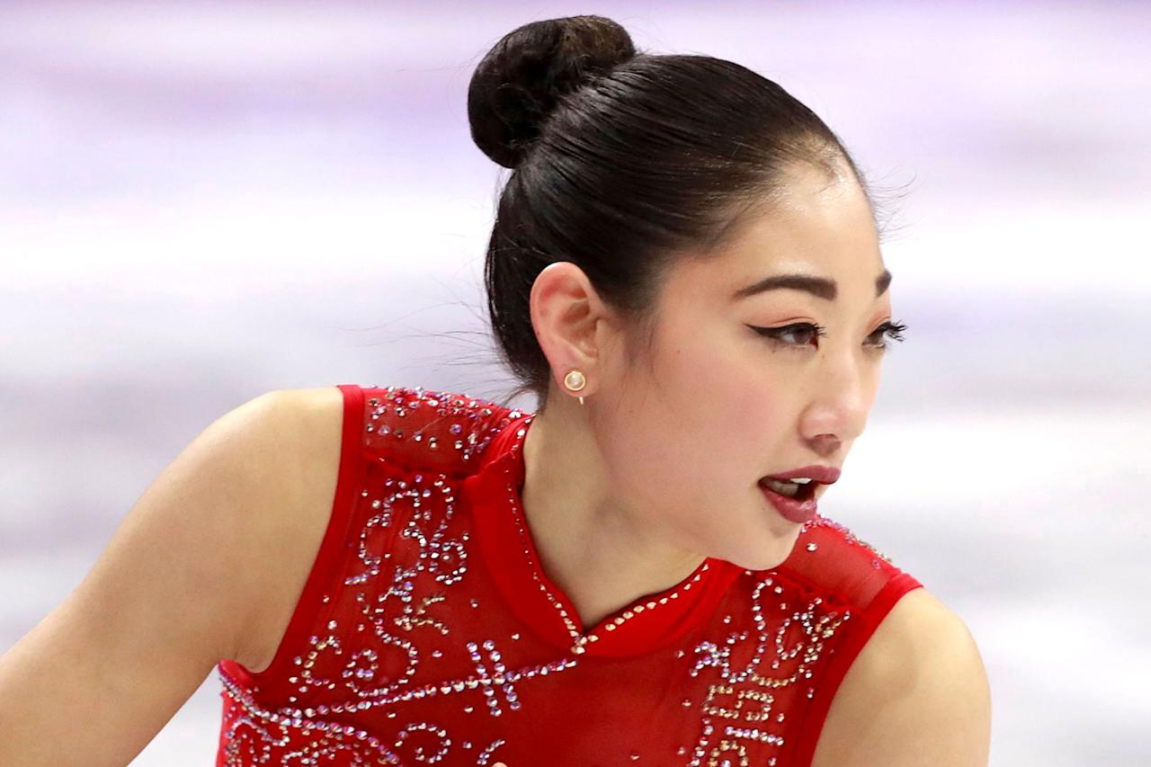 """<p><em>I noticed Olympic figure skater Mirai Nagasu's earrings last night <a rel=""""nofollow"""" href=""""http://people.com/sports/winter-olympics-2018-mirai-nagasu-lands-triple-axel/"""">during her historic performance</a> and can't get them out of my mind. Who makes them? -- Tatiana</em>  When Mirai landed the <a rel=""""nofollow"""" href=""""http://people.com/sports/10-biggest-figure-skating-moments-olympic-history/"""">historic and incredibly difficult triple axel</a> Sunday night at <a rel=""""nofollow"""" href=""""http://people.com/winter-olympics/"""">the Winter Olympic</a> Games, she was wearing <a rel=""""nofollow"""" href=""""http://soniahou.com/product/angel-collection/fire-ear-jackets-white-quartz-semi-precious-gemstone-in-24k-gold-can-be-worn-3-different-ways-made-in-brazil/"""">white quartz gem ear jackets by Sonia Hou</a>. </p>"""