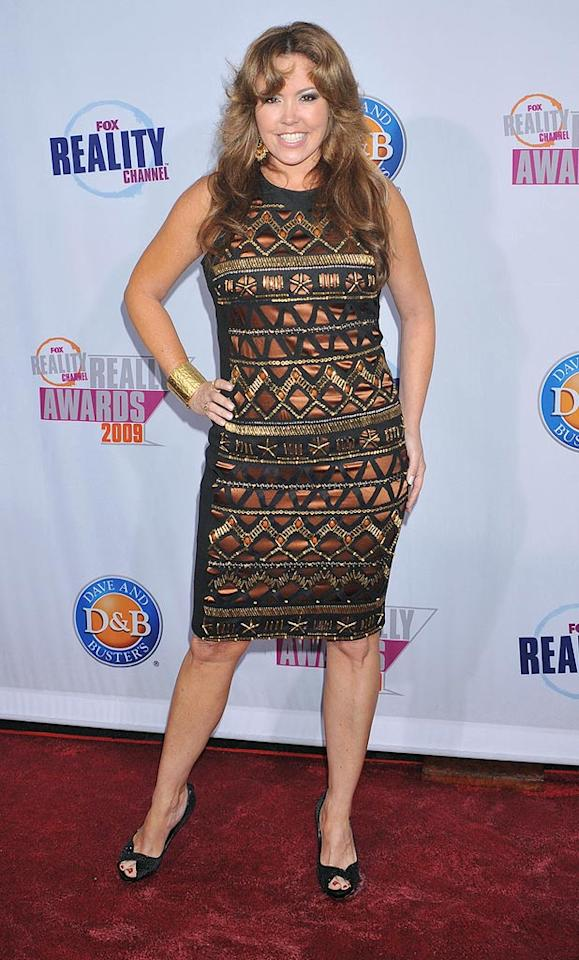 """So You Think You Can Dance"" judge Mary Murphy struck a pose in a geometric-print sheath. Jeffrey Mayer/<a href=""http://www.wireimage.com"" target=""new"">WireImage.com</a> - October 13, 2009"