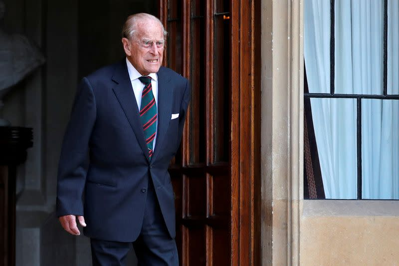 FILE PHOTO: Britain's Prince Philip stepping down from his role as Colonel-in-Chief for the Rifles in Windsor