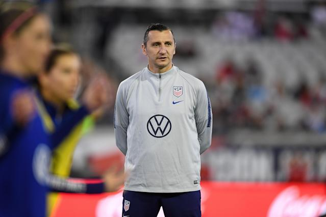 Vlatko Andonovski is trying to lead the USWNT to an Olympic title the year after winning the Women's World Cup, something no nation has accomplished. (Photo by Brad Smith/ISI Photos/Getty Images)