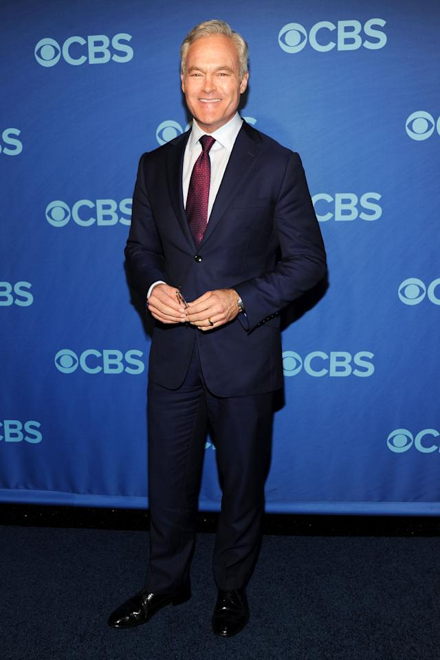 NEW YORK, NY - MAY 15:  Scott Pelley attends CBS 2013 Upfront Presentation at The Tent at Lincoln Center on May 15, 2013 in New York City.  (Photo by Ben Gabbe/Getty Images)