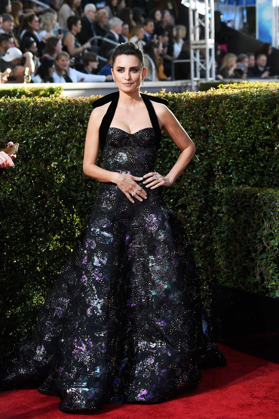 <p>Wearing a Ralph & Russo gown with Atelier Swarovski jewels.</p>