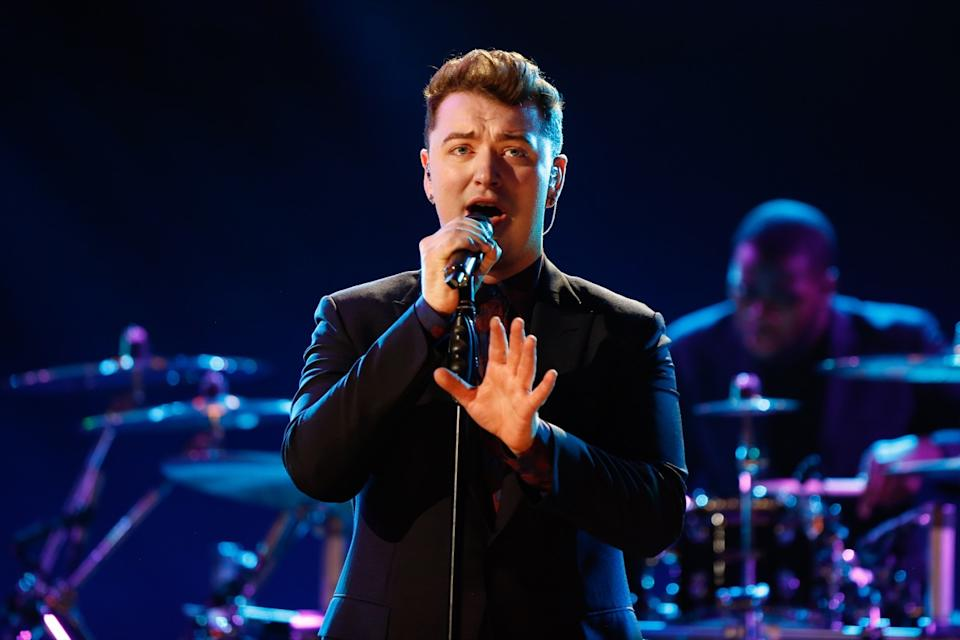 sam smith performing on stage, best breakup songs