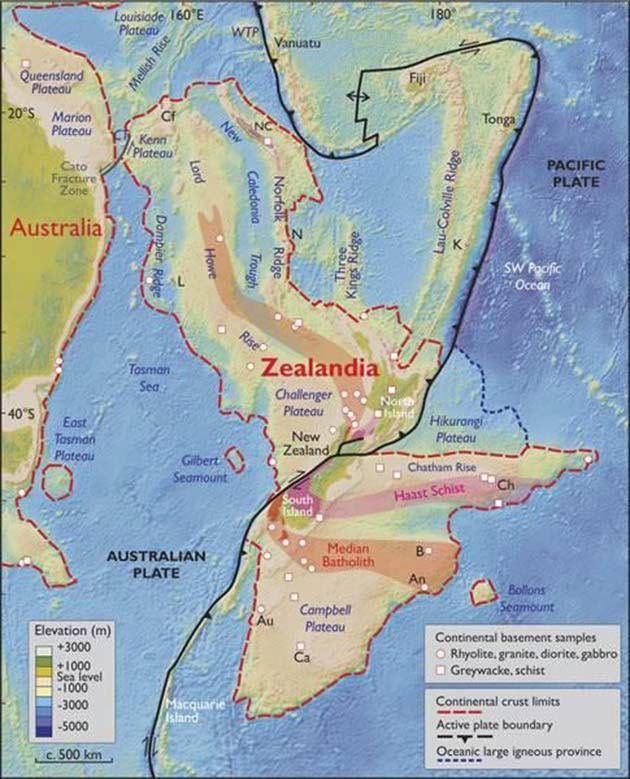 Zealandia map. Pic: Geological Society of America