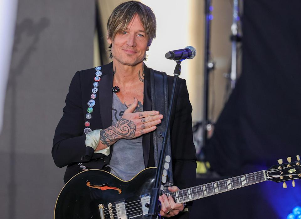 <p>Keith Urban performs on <em>Today</em> at Rockefeller Plaza on Sept. 3 in N.Y.C.</p>