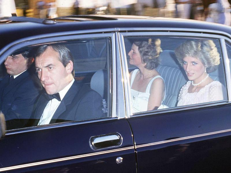 Princess Diana thought Barry Mannakee (front, nearest the camera) had been