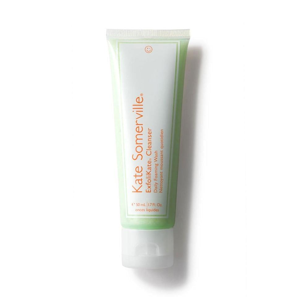 """<p>If you're looking for that satisfying deep cleanse sans scrubbing, Kate Somerville's ExfoliKate Cleanser delivers those complexion-buffing results without the aggressive rubbing. A tag team of glycolic and lactic acids clean without over-drying, so pores appear smaller and your skin noticeably smoother and more even.</p> <p><strong>$38</strong> (<a href=""""https://shop-links.co/1689628374371418192"""" rel=""""nofollow noopener"""" target=""""_blank"""" data-ylk=""""slk:Shop Now"""" class=""""link rapid-noclick-resp"""">Shop Now</a>)</p>"""