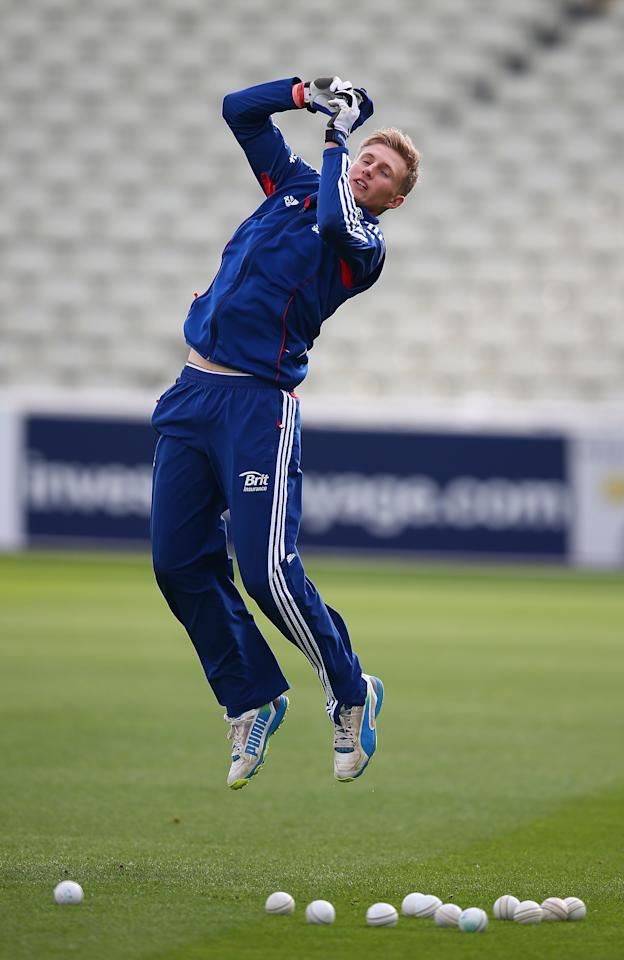 BIRMINGHAM, ENGLAND - SEPTEMBER 10:  Joe Root of England in action during a net session ahead of the third NatWest One Day International Series match between England and Australia at Edgbaston on September 10, 2013 in Birmingham, England.  (Photo by Clive Mason/Getty Images)