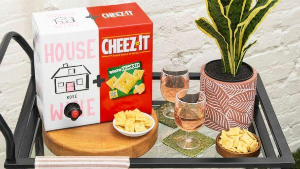 PHOTO: House Wine rosé and Cheez-It white cheddar limited-edition summer boxes. (Cheez-It)