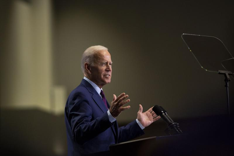 Former U.S. Vice President Joe Biden, a 2020 Democratic presidential candidate, speaks during the Rainbow PUSH Coalition Annual International Convention in Chicago, Illinois, U.S., on Friday, June 28, 2019. | Daniel Acker—Bloomberg/Getty Images
