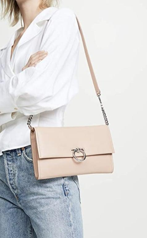 <p>This <span>Rebecca Minkoff Jean Convertible Crossbody</span> ($75) is so pretty to look at, make it the next addition to your going-out rotation. The silver hardware makes it that much cooler.</p>