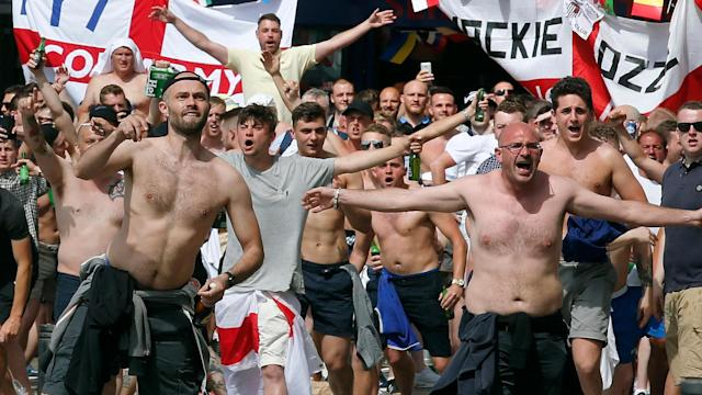 Warning: England fans should guard against displaying the St George's flag in Russia
