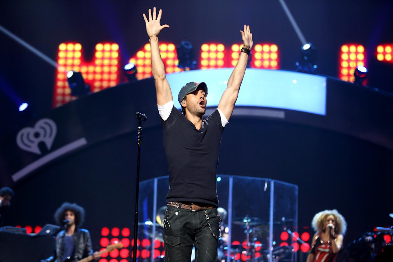Singer Enrique Iglesias performs onstage during the 2012 iHeartRadio Music Festival at the MGM Grand Garden Arena on September 22, 2012 in Las Vegas, Nevada.  (Photo by Christopher Polk/Getty Images for Clear Channel)