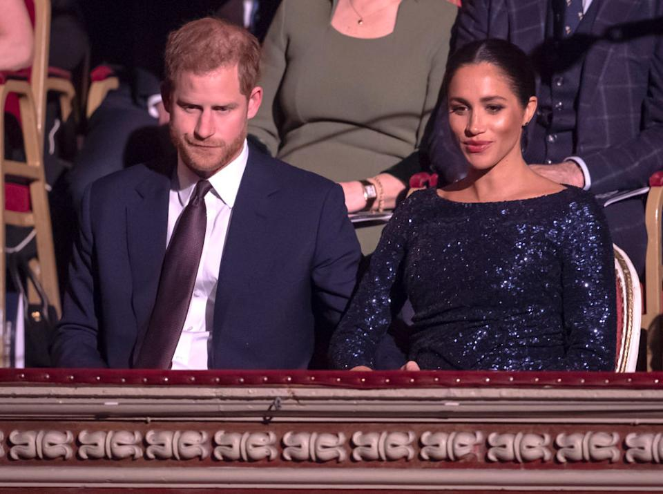 Meghan and harry at the royal albert music hall in 2019