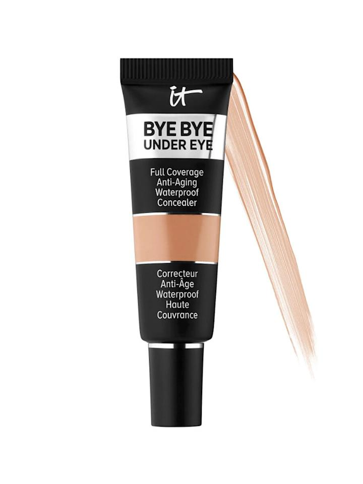"""<p>Looking for an under-eye concealer that won't budge even as you sweat? Consider this waterproof option from IT Cosmetics. Not only does it cover up dark circles effectively, but it's also specially-formulated with collagen and hyaluronic acid to diminish the look of fine lines and wrinkles. In a clinical study, 93 percent of users said the concealer provides full coverage, while 86 percent of users said it covered their imperfections.</p> <p>""""The best concealer I own and I own a handful,"""" wrote one shopper. """"It hydrates but provides full coverage. It doesn't fade throughout the day nor does it crease. You don't need a lot, just a tiny drop. I use this under my eyes and areas where I have dark pigmentation. So, so good!!!""""</p> <p><strong>To buy:</strong> $26; <a href=""""https://click.linksynergy.com/deeplink?id=93xLBvPhAeE&mid=2417&murl=http%3A%2F%2Fwww.sephora.com%2Fproduct%2Fbye-bye-under-eye-full-coverage-anti-aging-waterproof-concealer-P437987&u1=RS%2C11ConcealersThatCoverDarkUnder-EyeCirclesBetterThanAnythingElse%252CAccordingtoThousandsofShoppers%2Cmgandara805%2CMAK%2CIMA%2C675551%2C201909%2CI"""" target=""""_blank"""">sephora.com</a>.</p>"""