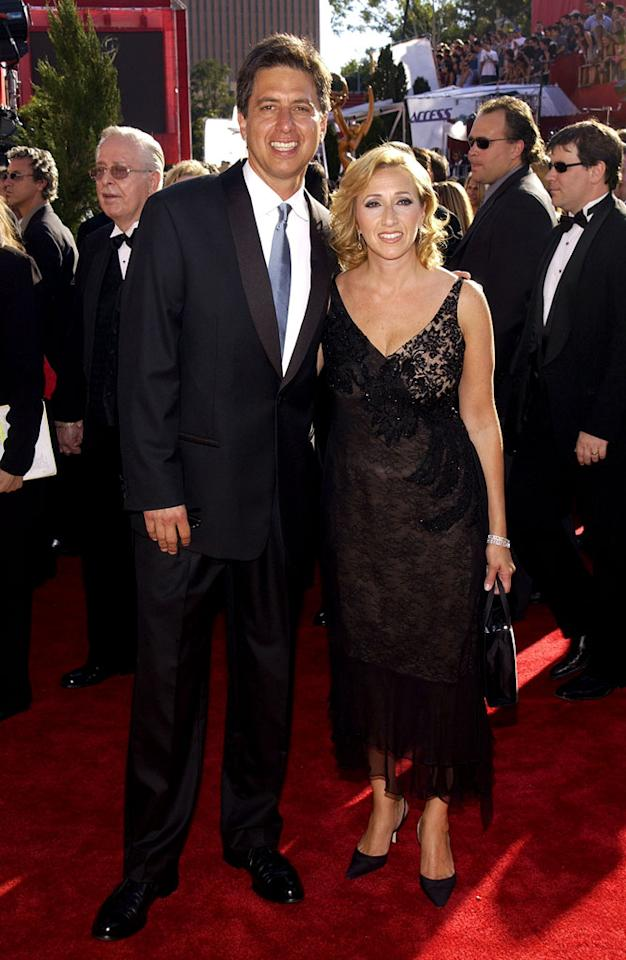 Ray Romano & wife at the 54th Annual Primetime Emmy Awards in Los Angeles, California on September 22, 2002.