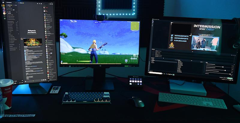 Iowa Chill displays gaming competition technology at a Mediacom10G Smart Home display on Thursday, Sept. 17, 2020 in Ames.