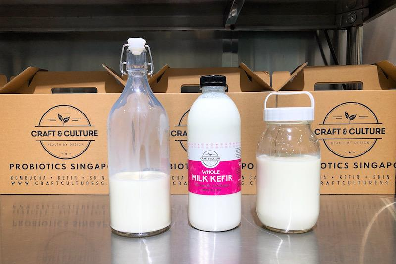 Ingredients for brewing kefir. Photo: Coconuts Media