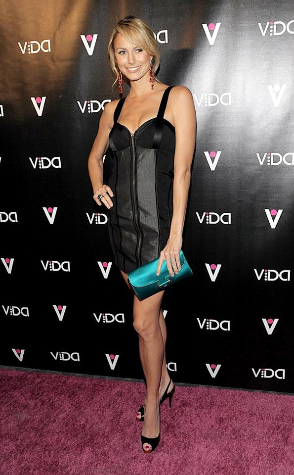 """""""Dancing With the Stars"""" hottie Stacy Keibler looked chic in a sexy LBD. Keibler recently guest-starred on the 100th episode of the hit comedy """"How I Met Your Mother."""" Jean Baptiste Lacroix/<a href=""""http://www.wireimage.com"""" target=""""new"""">WireImage.com</a> - January 13, 2010"""